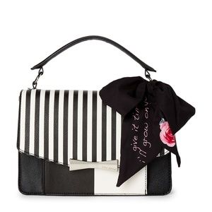 Betsey Johnson Scarf Accented Satchel